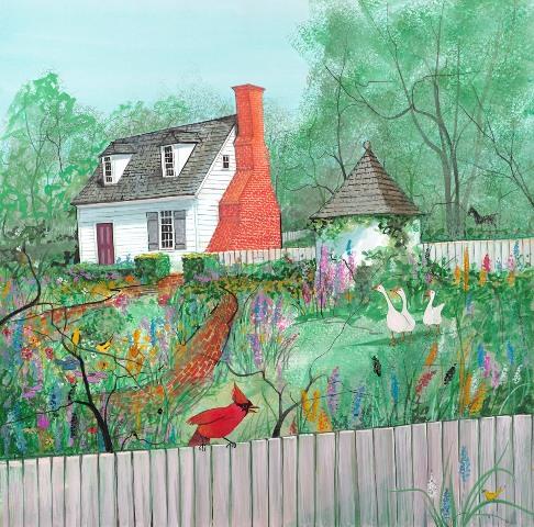 Colonial Garden Giclée