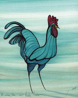 plucky rooster artist proof p buckley moss galleries ltd