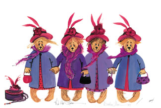 263f3b53967b5 Red Hat Ladies  P. Buckley Moss Galleries Ltd